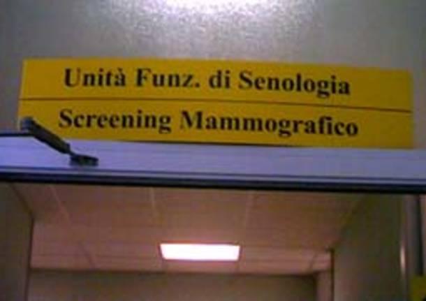 cartelli indicazioni targhe ingresso reparto senologia mammografia