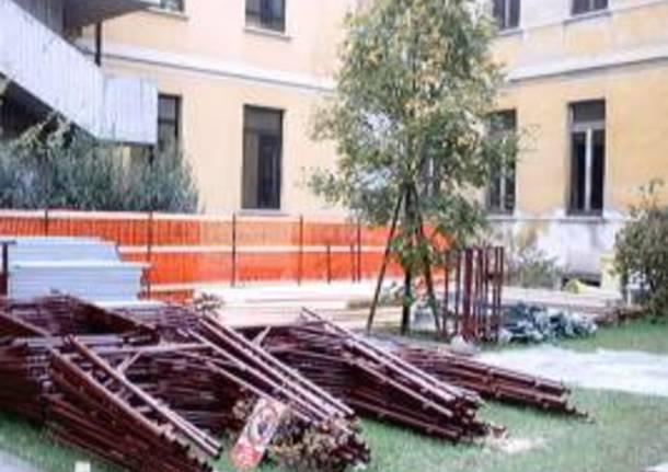 cantiere lavori scuola gallarate