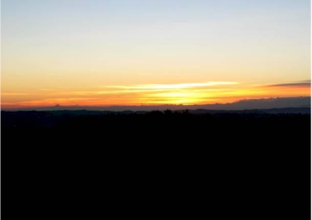 Un tramonto dal colle di San Maffeo
