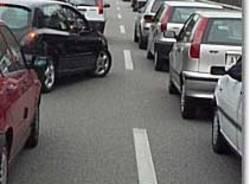 autostrada auto fila coda