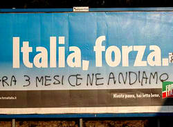 forza italia cartellone