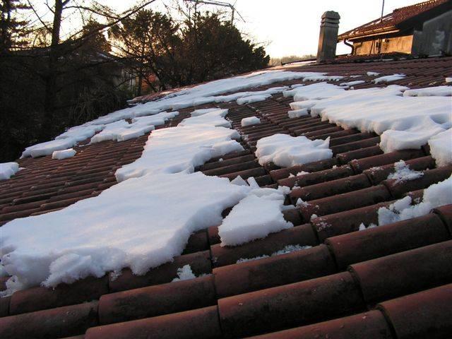 Il tetto di casa come la banchisa polare