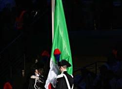 inaugurazione giochi olimpici torino 2006 bandiera italiana