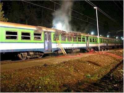 incendio treno nord gemonio