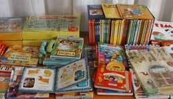libri bambini banco con tanti libri