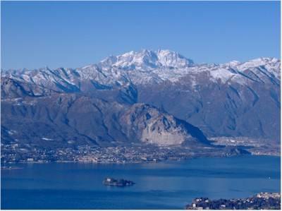 Panorama Lago maggiore e monte Rosa