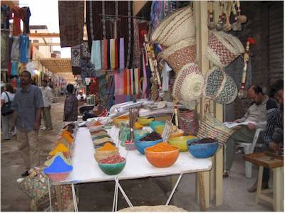 Il mercato delle spezie ad Assua