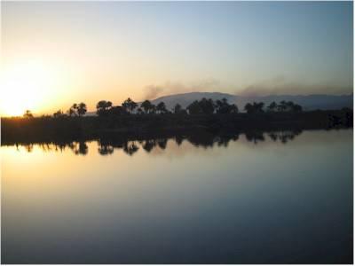 Il tramonto a Esna