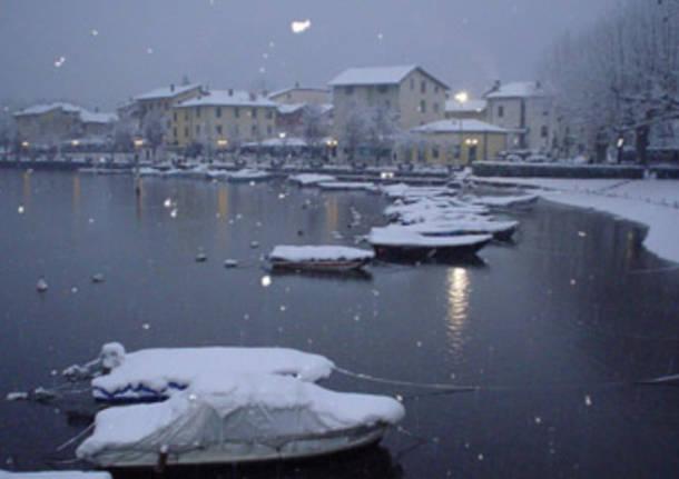 Lo stretto di Lavena in neve