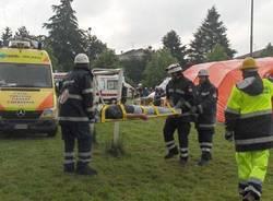 esercitazione protezione civile incidente treno saronno