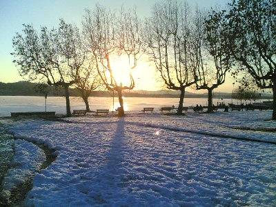 Il lago di Varese nel febbraio 2006