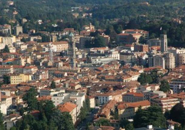 Varese dall'alto Notte bianca