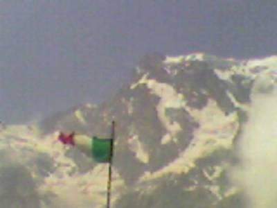Bandiera sul Monte Rosa