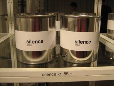 Barattoli di silenzio...