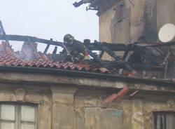 incendio saronno palazzo visconti