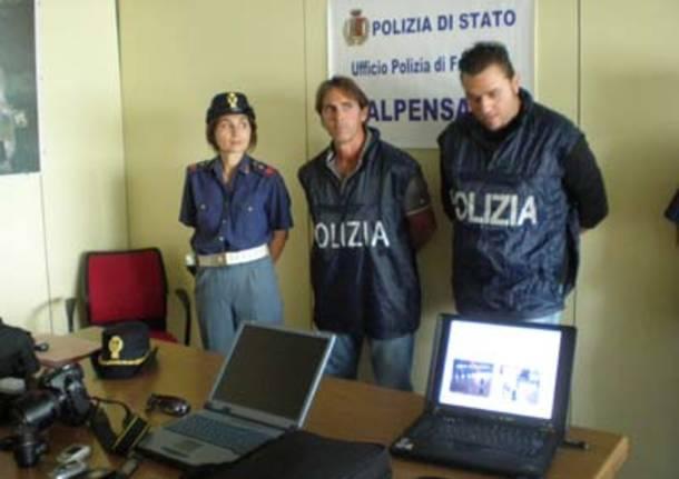Polaria malpensa arresto ladro