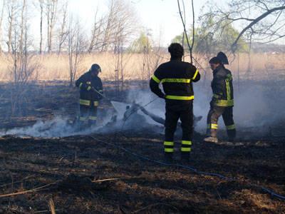 incendio canneto biandronno
