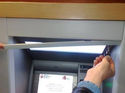 apparecchio clona bancomat