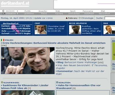 giornali stranieri elezioni 2008