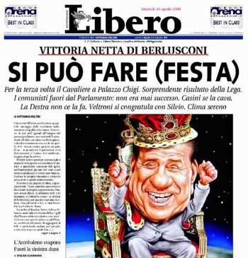 prime giornali elezioni 2008