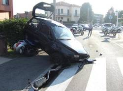 incidente rotonda gallarate via cappuccini agosto 2008