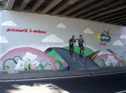 murale buguggiate coppi bartali mondiali ciclismo varese 2008