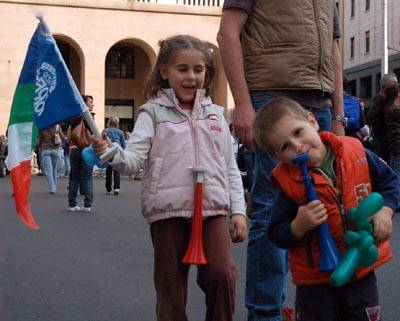 festeggiamenti tifosi italia mondiale ciclismo varese 2008