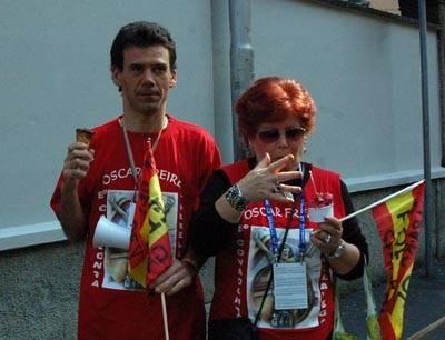 mamma e fratello oscar freire mondiali ciclismo varese 2008