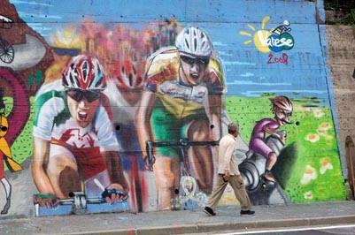 murales bobbiate varese mondiali ciclismo