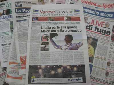 rassegna stampa prima gara mondiali 2008