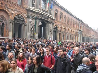 manifestazione studenti milano 21 ottobre 2008