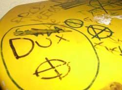 scritte fasciste svastica croce celtica neofascismo neonazismo busto arsizio ottobre 2008