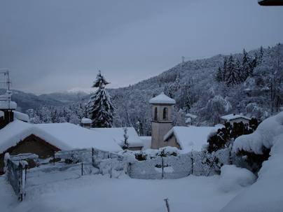Boarezzo sotto la neve