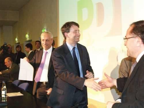dario franceschini segretario pd de filippi varese 27-2-2009