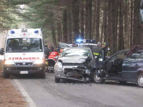 incidente auto scontro frontale Caidate