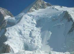 valanga montagna neve