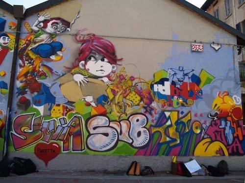 Il murales della scuola righi varesenews foto for Immagini di murales e graffiti