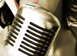 cantante, jazz, musica, microfono