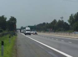 lavori terza corsia a9 autolaghi turate 27-7-2009