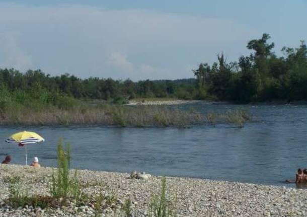 fiume ticino ferragosto 2009 castelnovate vizzola ticino