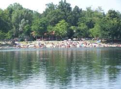 fiume ticino ferragosto 2009 sponda oleggio