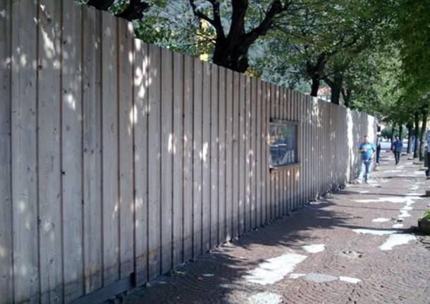 muro lungolago como