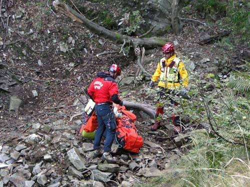 intervento soccorso alpino a curiglia cercatore di funghi