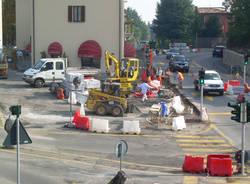 lavori casciago piazza cavour ottobre 2009