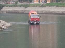 lavori diga panperduto somma lombardo canale villoresi canale industriale ticino 5-10-2009