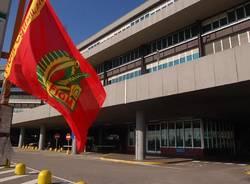 Alfa romeo Arese bandiera fiom cgil