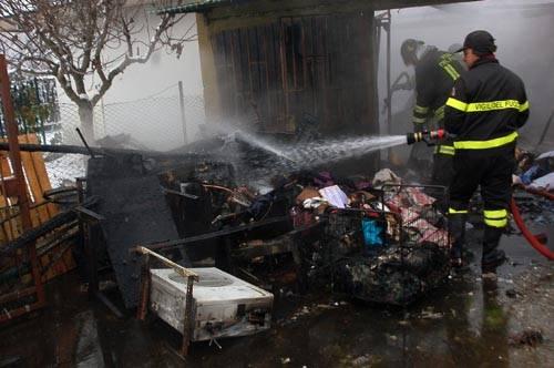 incendio azienda tessile gallarate
