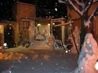 Presepe sotto la neve