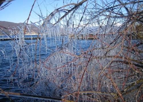Ispra - lungolago ghiacciato