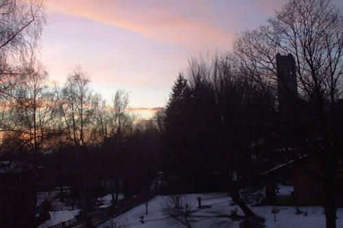 Magia di un tramonto invernale....